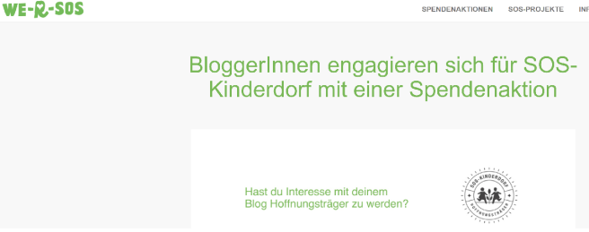 SOS Kinderdorf Blogger