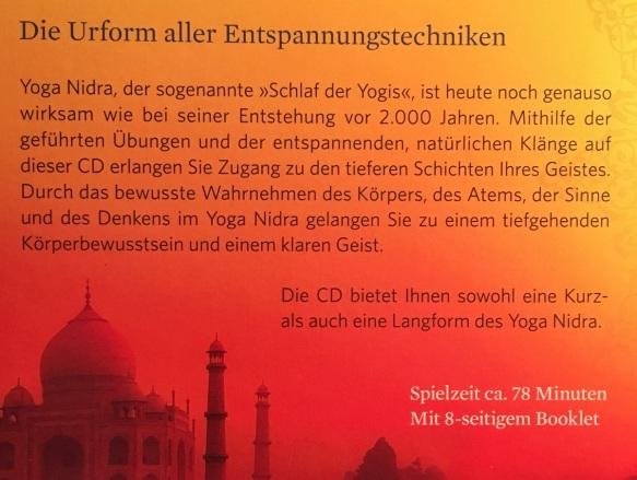 CD Yoga Nidra back
