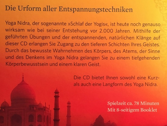 CD Yoga Nidra back