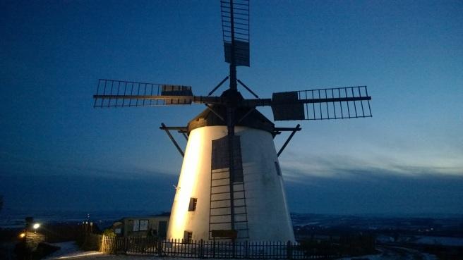 Retz Windmühle Nacht