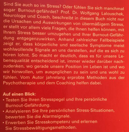 Buch Raus aus der Stressfalle Front