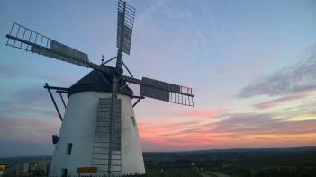 Retz Windmühle abendrot