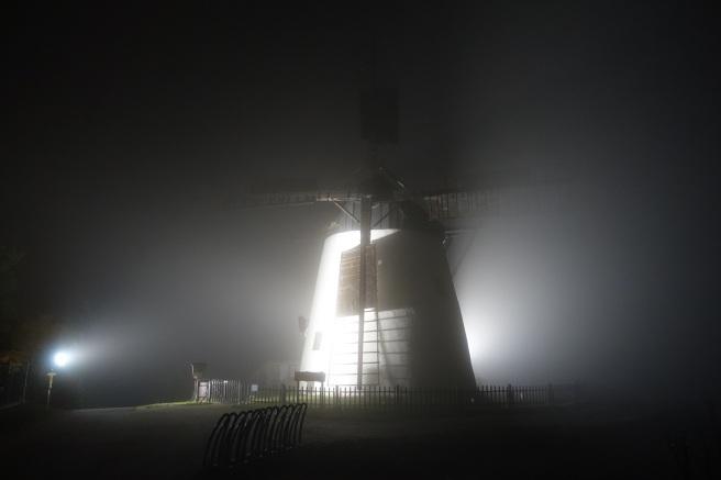 Windmühle Nebel 1