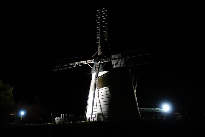Windmühle Nacht Stativ 2