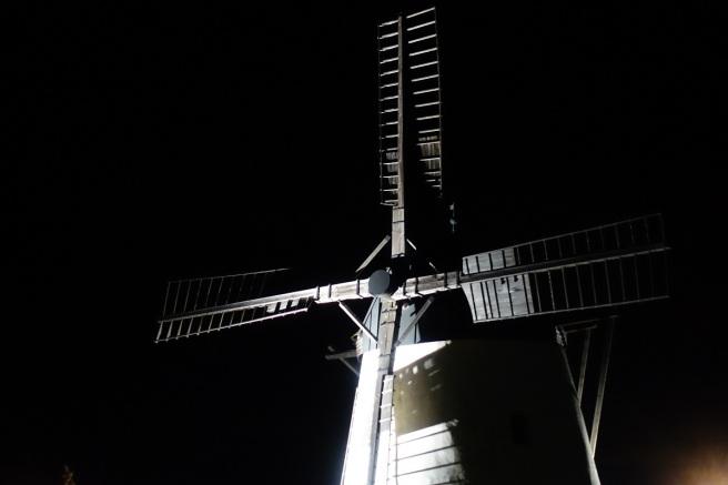 Windmühle Nacht Stativ 3