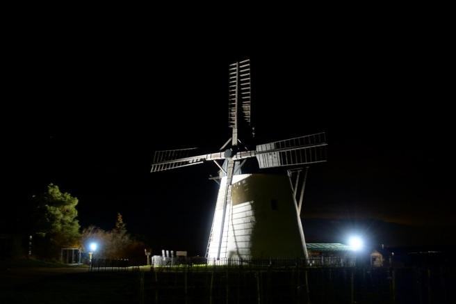 Windmühle Nacht Stativ 4
